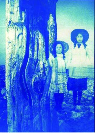 Beach digital collage cyanotype