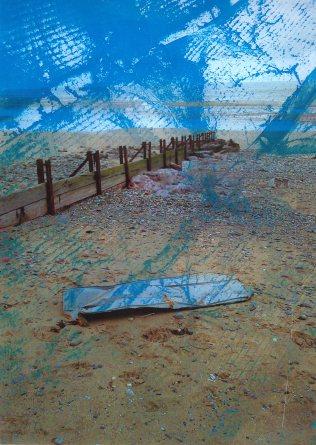 Shed Piece digitally layered Cyanotype